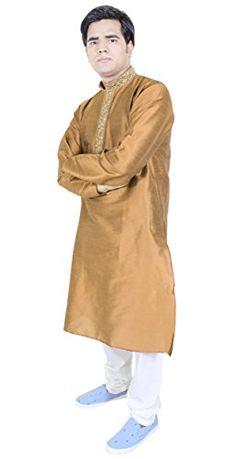 1b1563af9a27 Mens Clothing Cheap Kurta Pajama For Wedding Indian Dress Wedding Brown  Size M RoyaltyLane http