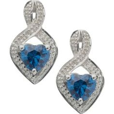 Buy Sterling Silver Tanzanite Coloured CZ Stud Earrings at Argos.co.uk - Your Online Shop for Ladies' earrings.