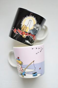 Esi-isä ja Tuutikki Moomin Mugs, Tableware, Photography, Dinnerware, Photograph, Dishes, Photo Shoot, Fotografie, Fotografia