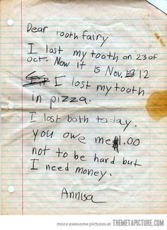 I lost my tooth…