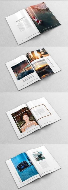 60 Pages Modern Magazine is an amazing fashion & lifestyle magazine template with variation layout for mix and match page. This is for publication magazine, Layout Design, Web Design, Print Layout, Graphic Design, Design Ideas, Magazin Design, Booklet Design, Presentation Layout, Poster Design