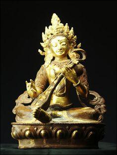49131-仏教仏像「弁財天(サラスヴァティ)」