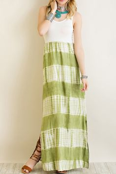 The Olive Tie Dye Maxi