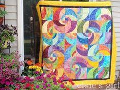 Radiant Suns batik quilt 2011