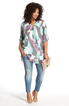 Great length and fun pattern on this tunic