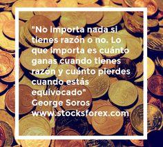 """""""No importa nada si tienes razón o no. Lo que importa es cuánto ganas cuando tienes razón y cuánto pierdes cuando estás equivocado"""" George Soros http://www.stocksforex.com Stocksforex #finances #hustle #secoundsto #investasi #stocktradepartners #fx #forextrader #teknikal #valutaasing #analisis #forexonline #surabaya #pips #profit #valutainvest #bisnis #video #traceysnelling #scalper #longterm #forexsignals #daytrader #forexisignals #markets #forexi #intraday #motivat"""