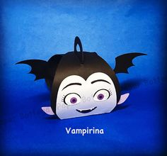 Lot of 5 Vampirina Party Decoration/ Favor Boxes in cardstock. Dimensions: Base - 5.8cm x 5.8cm Height - 8.5cm Width - 7.5cm  These boxes are shipped flat, simple assembly before use.  Please see other listings from my shop for other ready made designs.  Please contact me for other