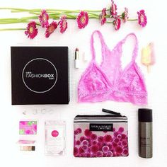 #flatlay #pretty #pink #flowers #lingerie #accessories