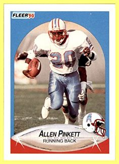 Football Trading Cards, Baseball Cards, Houston Oilers, H Town, Sport Icon, Tennessee Titans, Vintage Football, Running Back, New Orleans Saints