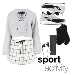 """MY STYLE : Sport Activity!"" by cancoog ❤ liked on Polyvore featuring Topshop, Boohoo, Y-3, Puma, adidas and JBL"