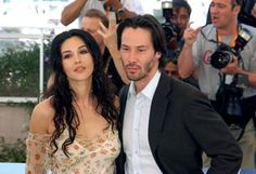 Keanu Reeves and Monica Bellucci at event of The Matrix Reloaded