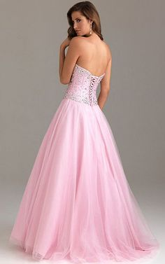 Night Moves 6439 Pink Strapless Ballgown Prom Dress 2013 [Night Moves 6439 Pink] - $172.00 : Cheap Formal Dresses, Discounted Prom Dresses at DressesBarnCheap