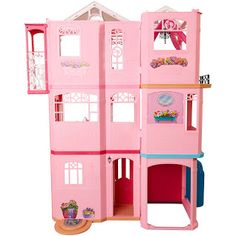 Barbie DreamhouseOpen the pink front door of the Barbie Dreamhouse and step into a world of possibilities. Fold down the garage& atrium window and transform it into a swimming pool to host Barbie& next pool party. Barbie Doll House, Sindy Doll, Barbie Dream House, Mattel Barbie, Dreamhouse Barbie, Pink Furniture, Barbie Furniture, Barbie Real, Barbie Website