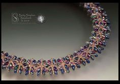 by Betty Stephan O Beads, Seed Beads, Beaded Necklaces, Beaded Jewelry, Super Duo, Seed Bead Jewelry, Jewelery, Beading, Twin