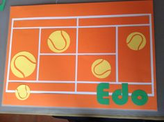 personalized tennis table mat
