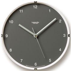 North Mini Wall Clock in Grey design by Lemnos Wall Desk, Desk Clock, Retro Clock, Burke Decor, Mini, Modern, Clocks, Grey, Design