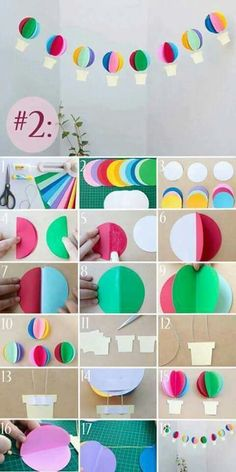 Pocket 3 recipes to decorate the banquet room with paper tha.- Pocket 3 recipes to decorate the banquet room with paper that makes anyone look … Pocket 3 recipes to decorate the banquet room with paper that makes anyone look enchanted - Kids Crafts, Preschool Crafts, Diy And Crafts, School Decorations, Balloon Decorations, Birthday Decorations, Paper Crafts Origami, Diy Paper, Decoration Creche