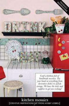 Craft a kitchen full of handmade mosaics. Try your hand at everything from decorative dishes to stylish storage. We have the tools and supplies to get you cooking!