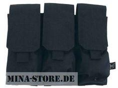 "mina-store.de - Magazintasche dreifach ""MOLLE"" Modular System schwarz"