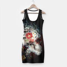 Skull I Black Series Simple Dress by RIZA PEKER 44.95€