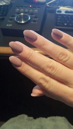 Greige Gray Beige Almond Short Stiletto Nails Nexgen Colors