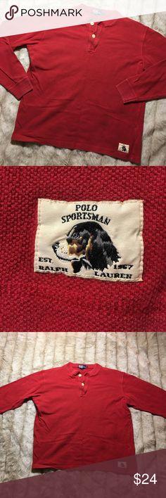 Vintage Ralph Lauren Polo Sportsman Shirt x 90s Size Large X excellent condition Polo by Ralph Lauren Shirts