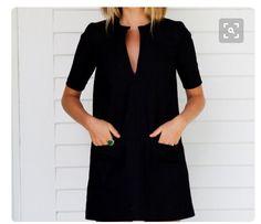 casual little black dress Look Fashion, Fashion Beauty, Womens Fashion, Petite Fashion, Curvy Fashion, Fall Fashion, Looks Black, Pretty Black, Inspiration Mode