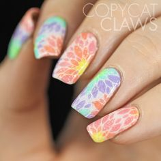 I Love these!!! SO pretty!! Copycat Claws: Messy Mansion Floral Stamping Decals