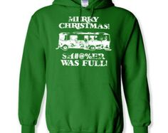 New Mens gildan heavy cotton ugly sweater sweat shirt hoody S-5XL SIZES hoodie Merry Christmas vacation shitter was full holiday funny gift