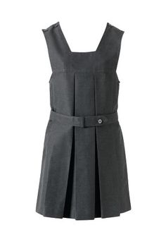 Square Neck Tunic With Box Pleat by Lancashire Schoolwear Manufacturers