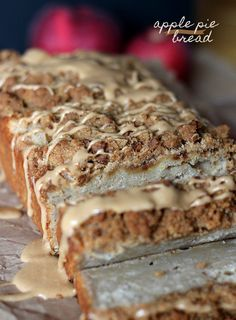 Apple Pie Bread... SO good!!! perfect for using up apples!