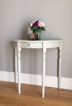Half Moon Painted Console Table (delivery quote available on request) by BaskervilleRoss on Etsy