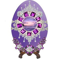 """Purple Faberge Egg"" by eccentricbetsi on Polyvore"