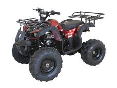 "Cougar Rider 9 125cc ATV SKU: ATV095 Automatic Transmission, Hand Shift Clutch, Utility Design, 19"" Front/18'' Rear Big Tires, Front Hub/Rear Hudraulic Disc Brakes, Front Bumper."