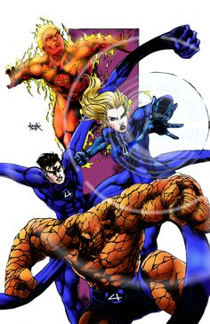 Fantastic Four (lines by shadowLynXer) by AMProSoft.deviantart.com on @deviantART