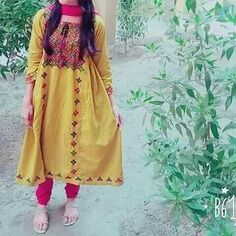 Beautiful Dress Designs, Lovely Dresses, College Girl Photo, Balochi Dress, Girl Fashion, Fashion Dresses, Girls Dp Stylish, Indian Girls Images, Girly Pictures