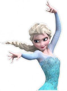 x Disney-frozen-anna-elsa-novo-design - Minus Frozen Birthday Theme, Disney Princess Birthday, Frozen Theme Party, Princess Party, Frozen Cupcake Toppers, Frozen Cupcakes, Frozen Cake, Bolo Frozen, Bolo Super Man