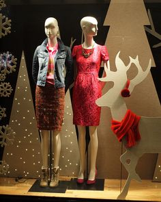 J. CREW Holiday Window Display, The Shops at Columbus Circle, Time Warner Center, New York City by jag9889, via Flickr