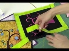A great video tutorial for how to connect those binding ends while attaching your quilt binding.
