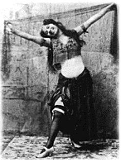 Belly dancer Little Egypt, first performed at the 1893 World's Fair in Chicago at the Egyptian exhibit
