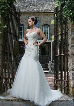 Fit N Flare Tulle Sweetheart Natural Waist Floor Length Sleeveless Wedding Gowns - Angeldress.co.uk