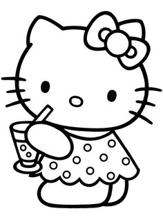 Free Printable Baby Hello Kitty Coloring Pages For Kids Picture 7