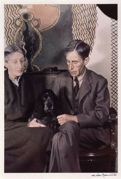 Virginia and Leonard Woolf, as photographed by Gisèle Freund in their house in Tavistock Square in 1939. (National Portrait Gallery.)