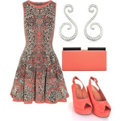 Coral, created by beachpeace on Polyvore