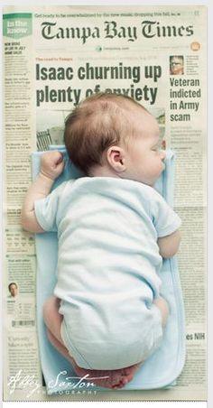 Leuk idee, krant dag geboorte