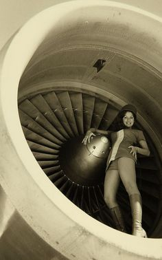 Pacific Southwest Airlines Flight Attendent via San Diego Air & Space Museum Archives