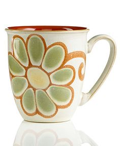 Denby Dinnerware, Fire Zinnia Coffee Beaker Mug - Macy's