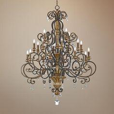 Option for kitchen island chandelier