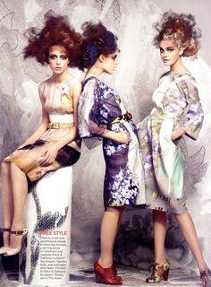 'High Definition', Raquel, Coco & Caroline by Craig McDean for Vogue