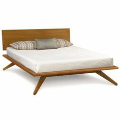 $2999 King- no tax, free shipping, Astrid Platform Bed with Headboard Panel by Copeland Furniture | YLiving